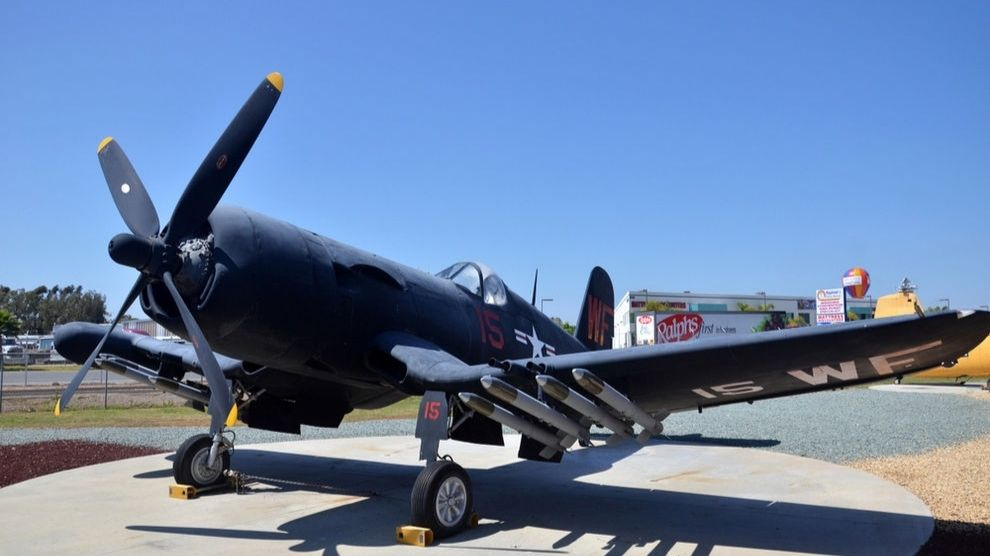 Plane at Flying Leatherneck Aviation Museum in Mira Mesa